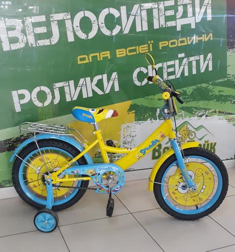 """Велосипед Profi 16"""" Trike SB164 SpongeBob жовтий/блакитний"""