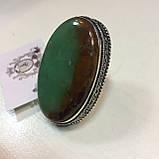 Крупное кольцо хризопраз в серебре, овальное кольцо с хризопразом 17,5-18 размер Индия!, фото 3