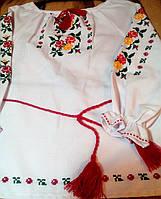 Вышиванка для девочки (ручная вышивка)''Розочки цветные''