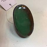 Крупное кольцо хризопраз в серебре, овальное кольцо с хризопразом 17,5-18 размер Индия!, фото 5