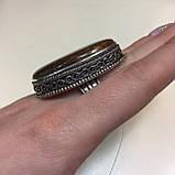 Крупное кольцо хризопраз в серебре, овальное кольцо с хризопразом 17,5-18 размер Индия!, фото 6
