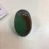 Крупное кольцо хризопраз в серебре, овальное кольцо с хризопразом 17,5-18 размер Индия!, фото 2