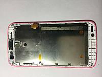 Дисплей для Lenovo A516 с передней панелью.  розовый. оригинал. разборка