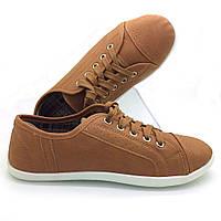 Кеды кроссовки экокожа оптом, обувь из искусственной кожи коричневые (37-41)
