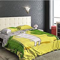 """Комплект постельного белья евро бязь """"Кот и кактус"""", фото 1"""
