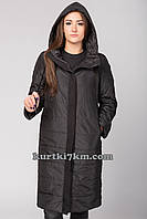 Красивое женское пальто черное Snow beauty 9098, фото 1