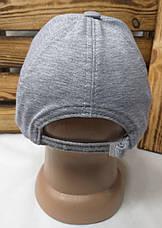 Мужская кепка в стиле Adidas (реплика) серого цвета трикотаж сезон весна-лето большая вышивка, на регуляторе, фото 3