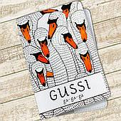 Кожаная обложка для паспорта Гуси (4074-4001)