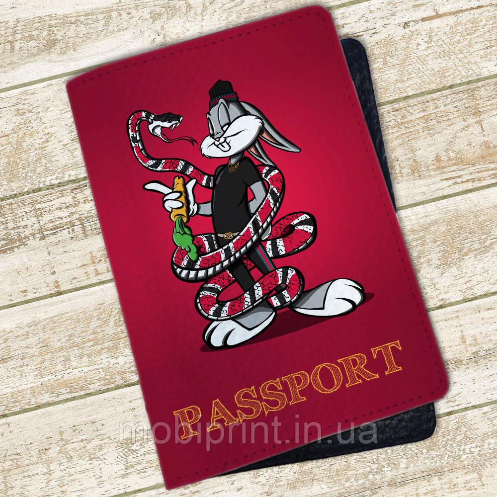Кожаная обложка для паспорта Багз Банни (4074-4000)
