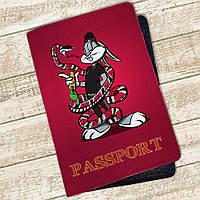 Кожаная обложка для паспорта Багз Банни (4074-4000), фото 1