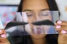 Накладные брови👀 унисекс, реалистичные из натуральных волос, черные, фото 8