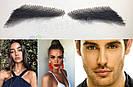 👀 Накладные брови, реалистичные из натуарльных волос, широкие черные, фото 7
