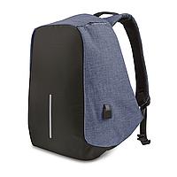 Рюкзак антикрадій з USB синій