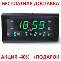 Часы настольные комнатные электронные с будильником термометром и календарем большой LED -дисплей Originalsize