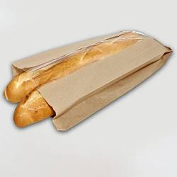 Пакет бумажный бурый со вставкой 220х100х50/40 ящ.1000шт