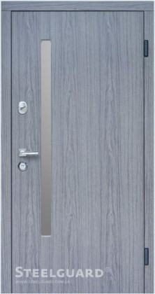 Двери Steelguard AV-1 Grey Glass Серия RESISTE
