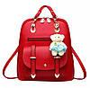 Женский рюкзак городской Винтаж с брелком мишкой Тедди,Candy Bear - Фото