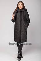 Женское пальто черное  Snow beauty 9098, фото 1