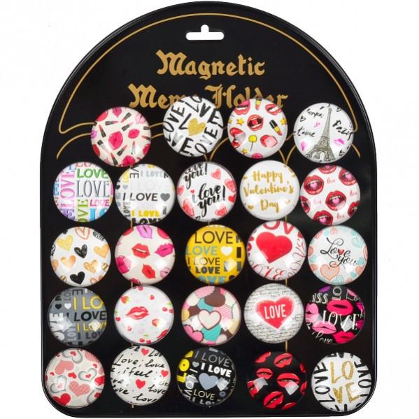 Магнит «Любовь» круглый 24 шт 4063
