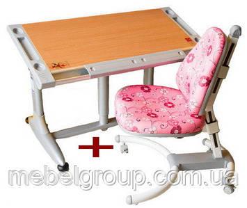 Комплект Дитяча парта растишка BRISTOL КD-338L і Дитяче ортопедичне крісло HAPPY CHAIR ДО-639 Comf-Pro