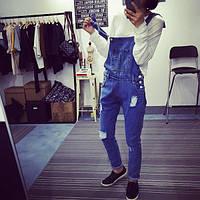 Комбинезон джинсовый женский синий