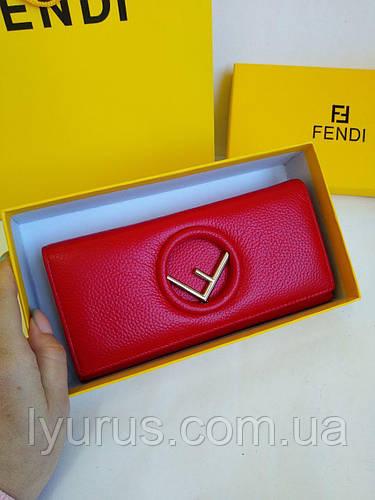 e34bbaf46588 Женский кожаный кошелёк Fendi красного цвета : продажа, цена в Полтаве.  кошельки и портмоне от