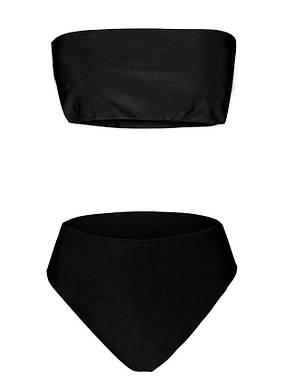 Купальник раздельный бикини, мягкая чашка с вкладышем, слип чёрный- 129-26, фото 2
