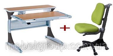 Комплект Дитяча парта растишка HARVARD КD-333 і Дитяче ортопедичне крісло Match KY-518 Comf-Pro