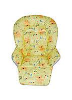 Чехол на сидение к стульчику для кормления DavLu Мишки желтый (Ch-305)