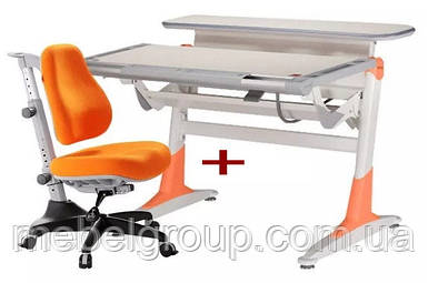 Комплект Дитяча парта растишка NOBLESSE ТН-333 і Дитяче ортопедичне крісло Match KY-518 Comf-Pro