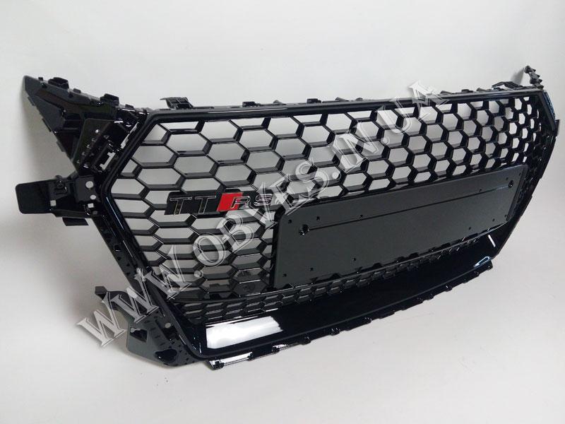 Решетка радиатора Audi TT  8S 2014+    стиль RS (черная)