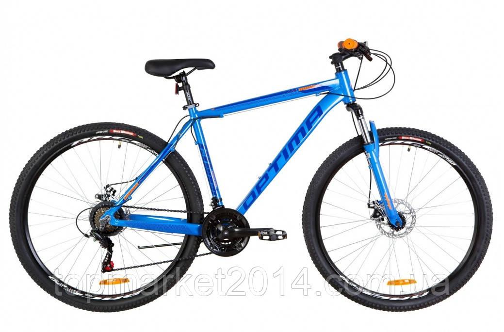 """Горный велосипед OPTIMABIKES AL MOTION DD AM 29""""(сине-оранжевый)20r"""