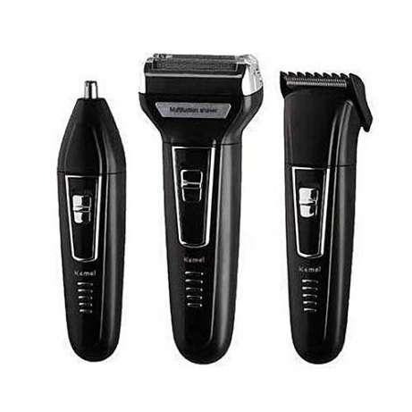 Триммер и бритва Gemei GM-573 3 в 1 | Электробритва  | Бритва для стрижки бороды, носа, ушей