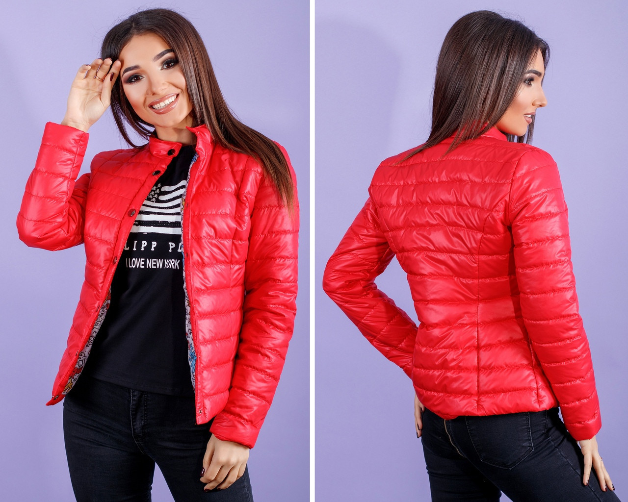 7092d408f6f Короткая женская куртка весна   осень синтепон 100 с 42 по 52 рр -  Bambarbia в