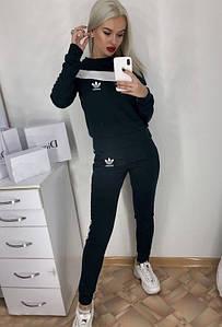 Женский спортивный костюм Adidas. Ткань джерси. Размеры  42,44,46 Расцветки зеленый,коричневый