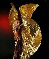 Крылья золотые для восточных танцев полусолнце