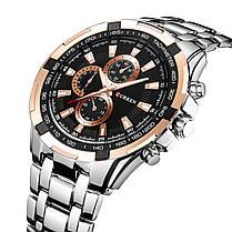 848423b0 ✸Кварцевые часы CURREN 8023 Silver + Gold наручные мужские с  влагозащищенным корпусом из нержавеющей стали
