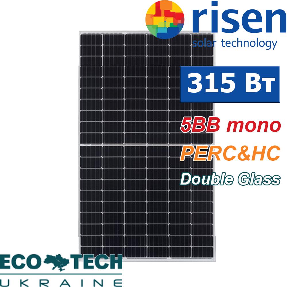 Cолнечная батарея Risen RSM120-6-315M DG Half-Cell PERC монокристалл