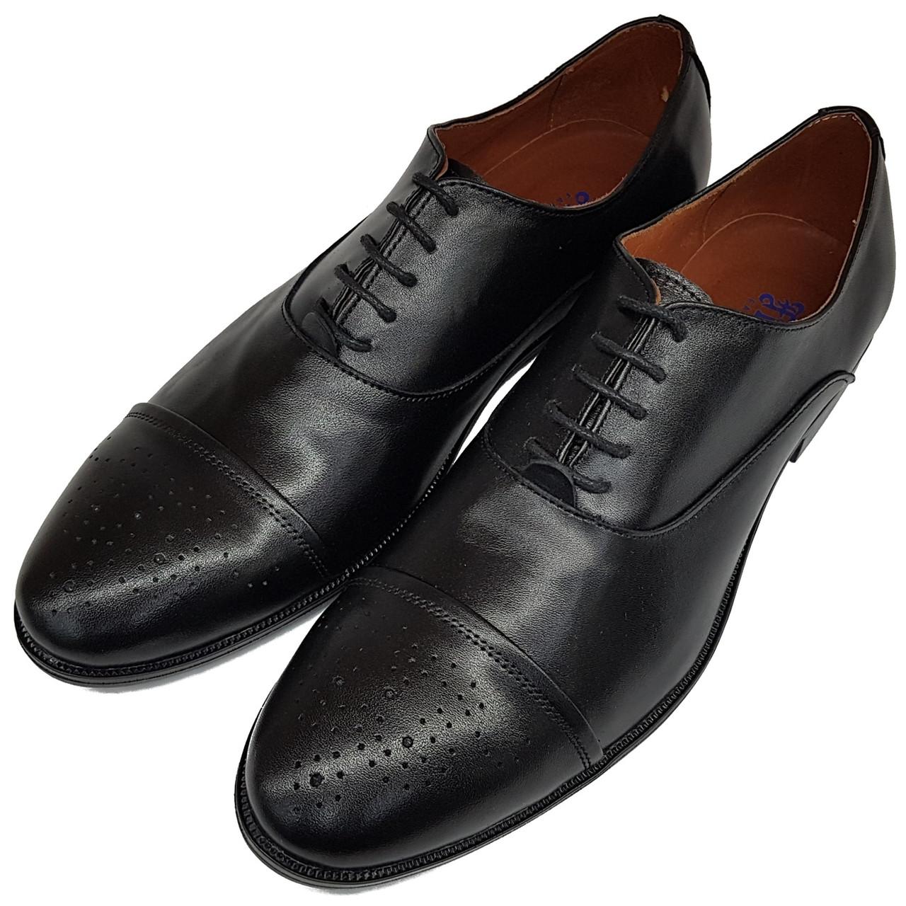 Мужские туфли оксфорды Flamanti кожаные черные SH0024/24