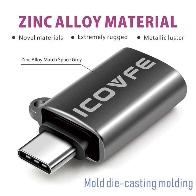 Адаптер USB Type C к USB 3.0 iCovfe серый