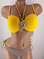 Купальник Ольга 3901 желтый для большой груди и узких бедер на 44 46 48 50 52 размер.