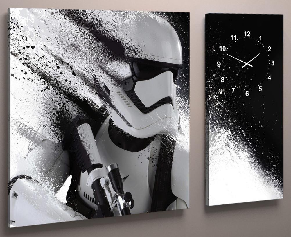 Часы настенные звездные войны штурмовик 100х60