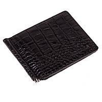 Зажим для денег Eminsa 1075-4-1 кожаный чёрный