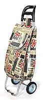 Господарська сумка візок Xiamen із залізними колесами Shoping Great Britain (0034)