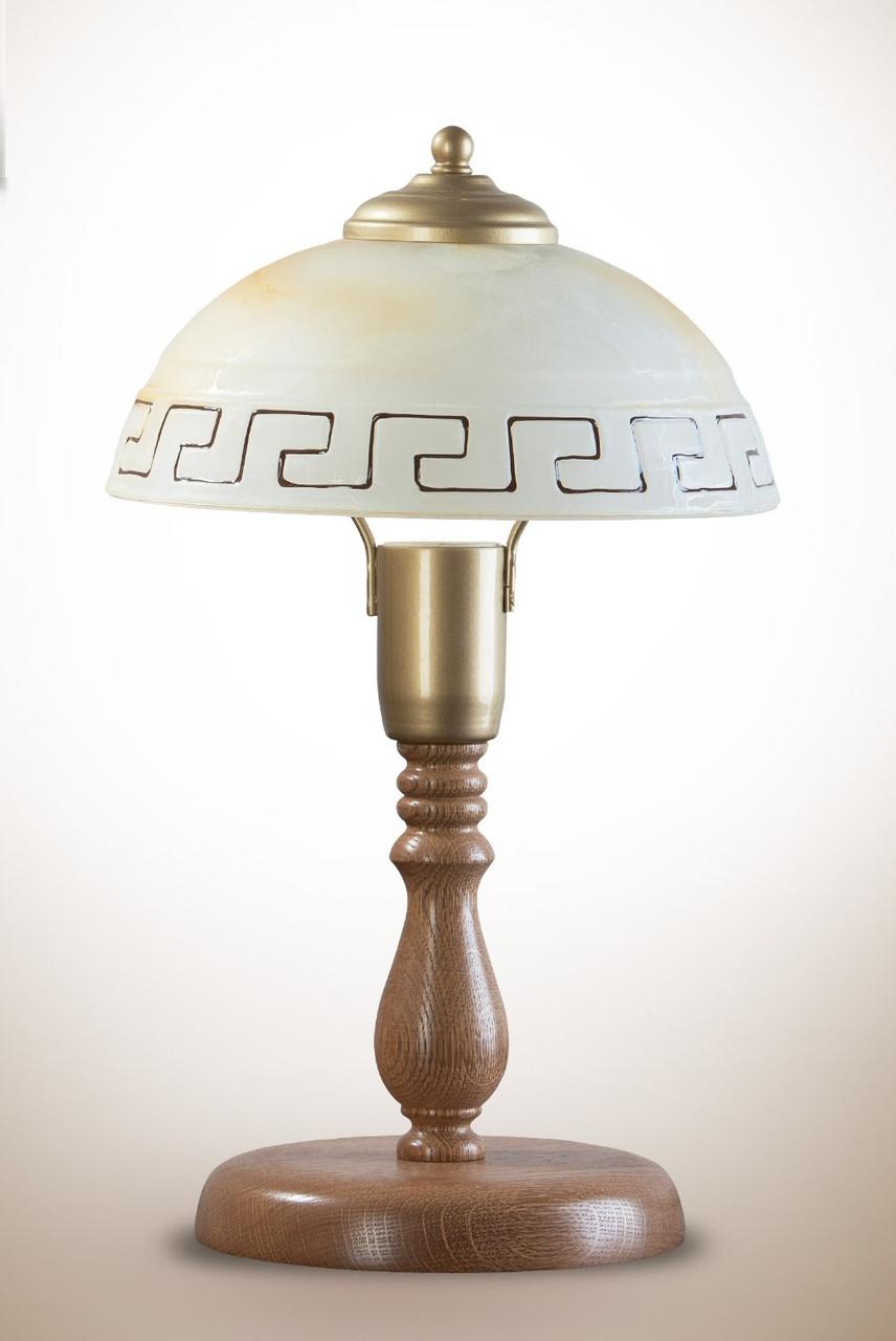 Настольная лампа деревянная в греческом стиле 717