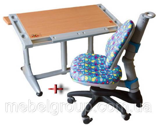 Комплект Детская парта растишка BRISTOL КD-338L и Детское ортопедическое креслоROYCE KY-318 Comf-Pro