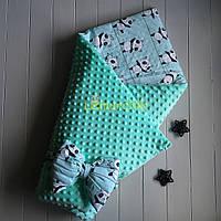 Конверт-одеяло минки на синтепоне мятный