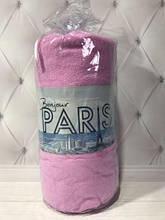 Махровая простынь на резинке, ,160 х 200+ 30 см,Bonjorno Paris розовый