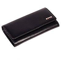Женский кошелек Butun 592-004-001 кожаный черный, фото 1