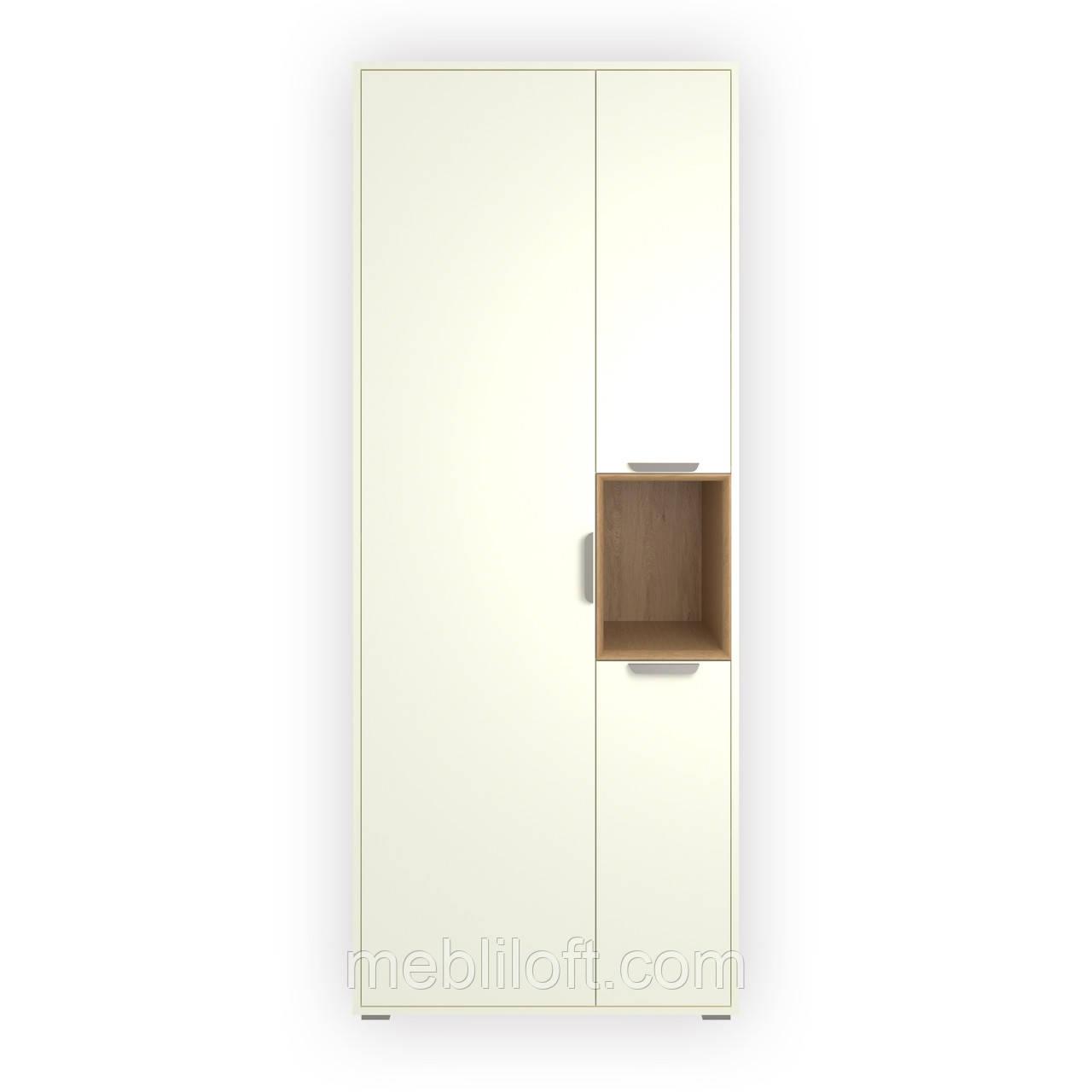 Шкаф H1V3D белый/дуб каменный Прихожая  Арте / Arte